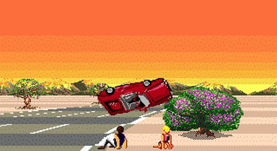 A sunset? A flipping Ferrari? This isn't a Sega game, it's a beta version of Gran Turismo 5!