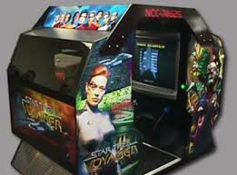 The Star Trek: Voyager arcade game