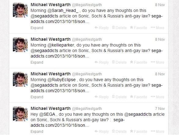 Michael Westgarth Sega Addicts Twitter