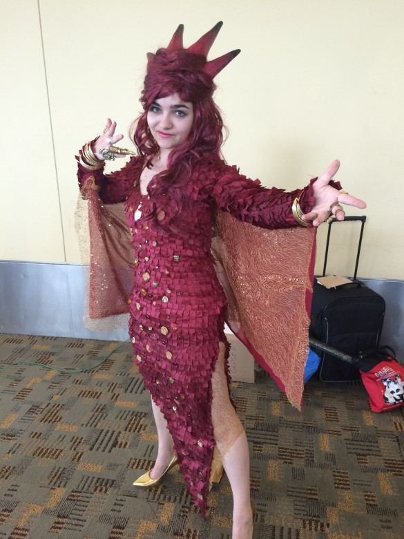 This girl came with three different cosplay, but this one is her wicked cool take on Smaug