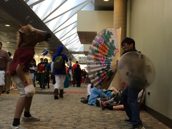 It started as normal as things get here at Otakon